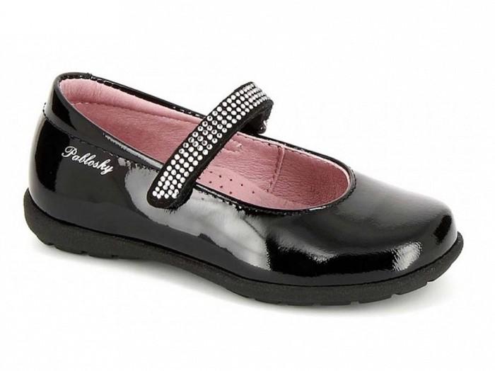 Pablosky 316919 Lány lakk bőr balerina cipő fekete