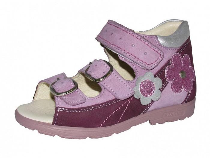 Szamos 4279 50749 Lány supinált szandál virág mintával lila